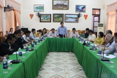 Phong Nha – Ke Bang National Park Management Board has a meeting with the delegation of Hin Nam No National Protected Area of Laos.